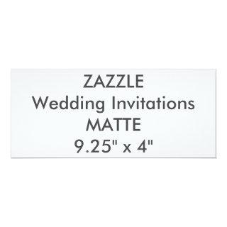"MATTE 120lb 9.25"" x 4"" Wedding Invitations"