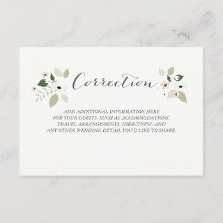 Meadow Blooms Correction Card