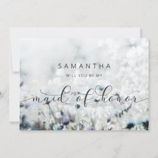 Meadow Song Wildflower Maid of Honor Proposal Card