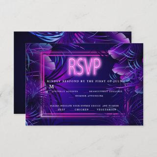 Meal Choice RSVP | Intense Tropical Neon Invitation