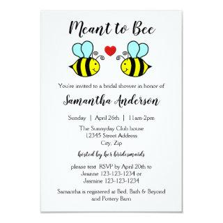 Meant to Bee - 3x5 Bridal Shower Invitation