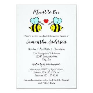Meant to Bee - Bridal Shower Invitation