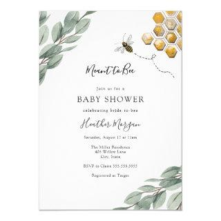 Meant to Bee Eucalyptus Bridal Shower Invitations