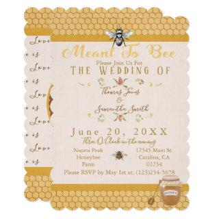 Meant To Bee Wedding Invitations
