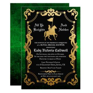 Medieval Knight Jousting Bridal Shower Invitations