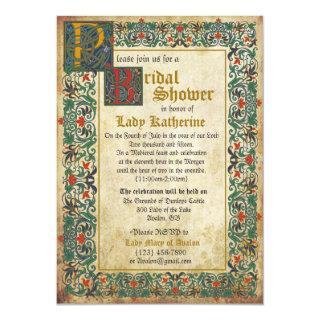 Medieval Manuscript Bridal Shower Invitations Card