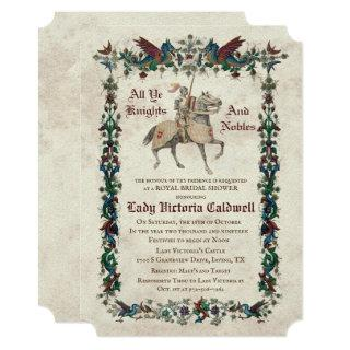 Medieval Renaissance Bridal Shower Invitations