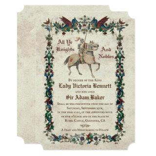 Medieval Renaissance Wedding Invitations