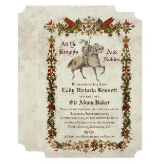 Medieval Renaissance Wedding Invitation