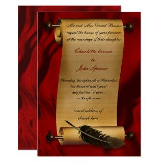 medieval scroll vintage Invitations