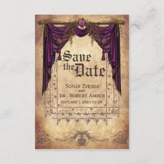 Medieval Wedding Save the Date invitation