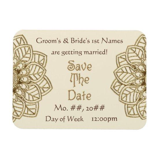 Mehndi Lace (Save The Date Magnet) Magnet