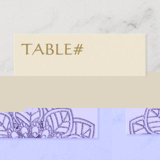 Mehndi Lace (Table Number Cards) Invitation