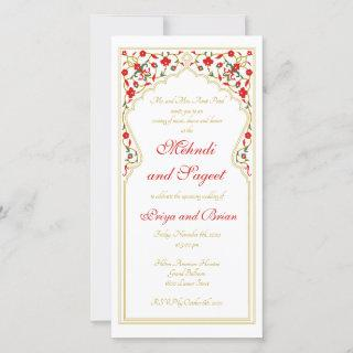 Mehndi Sageet Indian Wedding Invitations