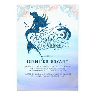 Mermaid Bridal Shower Under The Sea of Love Invitations