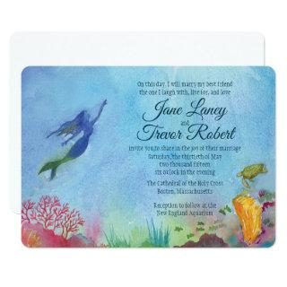 Mermaid Wedding Invitations