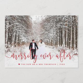 Merrily Ever After | Newlywed Holiday Photo