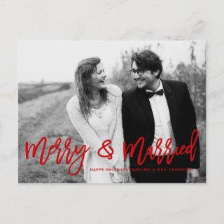 Merry and Married Hand Lettered Wedding Holiday