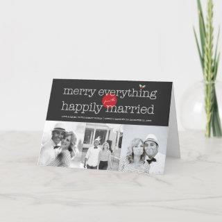 Merry Everything From The Happily Married 3 Photo Holiday Card