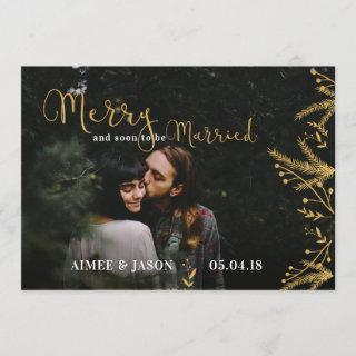 Merry Soon to be Married Christmas Save the Date