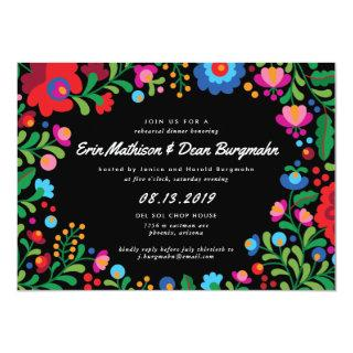 Mexican Embroidery Rehearsal Dinner Invitation