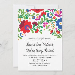 Mexican Embroidery Wedding Invitations
