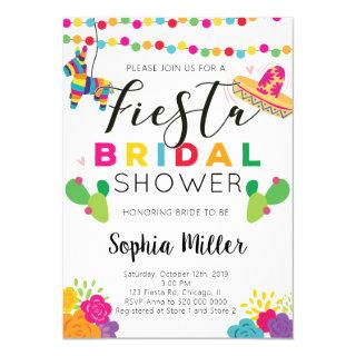 Mexican Fiesta Bridal Shower Invitations