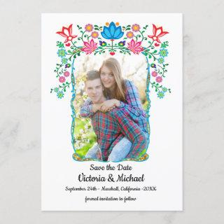 Mexican Fiesta Gold Save the Date Photo