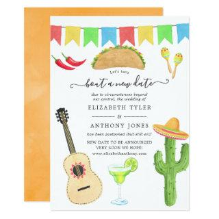 Mexican Fiesta Taco 'bout a New Date Wedding Invitations