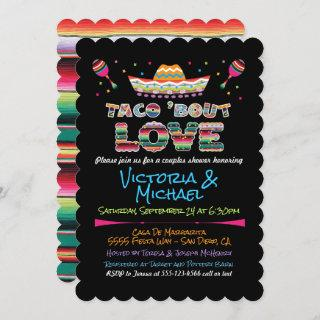 Mexican Fiesta taco bout love couples shower Invit Invitations