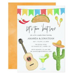 Mexican Fiesta Taco 'bout Love Couples Shower Invitations