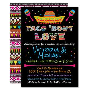 Mexican Fiesta taco bout love couples shower Invitations