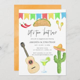 Mexican Fiesta Taco 'bout Love Engagement Party Invitations