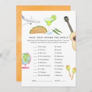 Mexican Fiesta Taco 'bout Love Shower Game Invitations