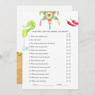 Mexican Fiesta Taco Bridal Shower Game