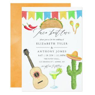 Mexican Fiesta Taco themed Wedding Invitations