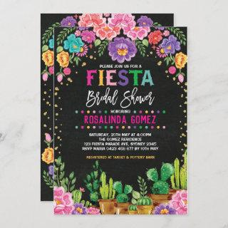 Mexican Floral Bridal Shower Fiesta Flowers Invite