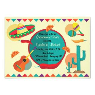Mexican Theme Engagement Party Invitation