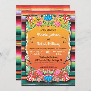 Mexican Wedding Rug and Floral Invitations