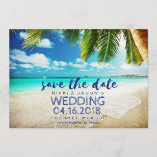 Mexico Beach Destination Wedding Save the Dates Save The Date