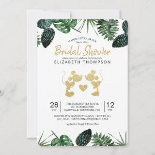 Mickey & Minnie | Tropical Gold Bridal Shower Invitations