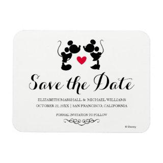 Mickey & Minnie Wedding | Silhouette Save the Date Magnet