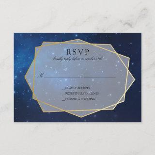 Midnight Blue Constellation Wedding RSVP