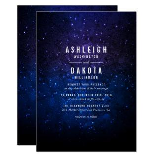 Midnight Sky & Shining Stars | Galaxy Wedding Invitations