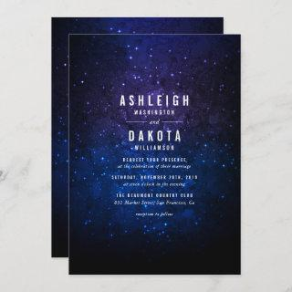 Midnight Sky & Shining Stars | Galaxy Wedding Invitation