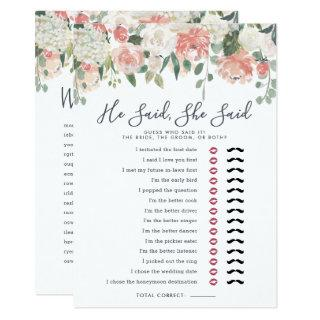 Midsummer Floral Double-Sided Bridal Shower Game Invitations