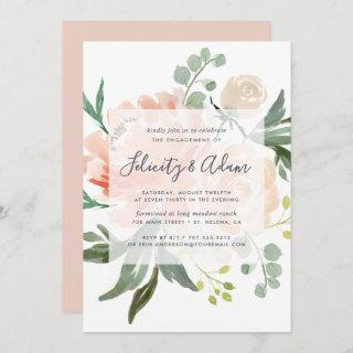 Midsummer Floral Engagement Party Invitations
