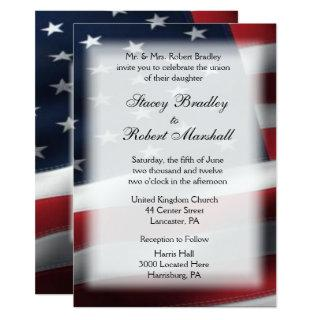 "Military Wedding Theme Wedding Invitations 5"" x 7"""