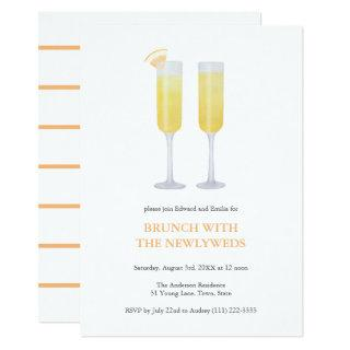 Mimosas Rise and Shine Brunch With Newly Weds Invitations
