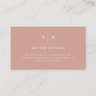 Minimal and Chic | Terracotta and White Details Enclosure Card